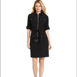 BNWT Michael Kors Utility shirt dress SIZE XL blk